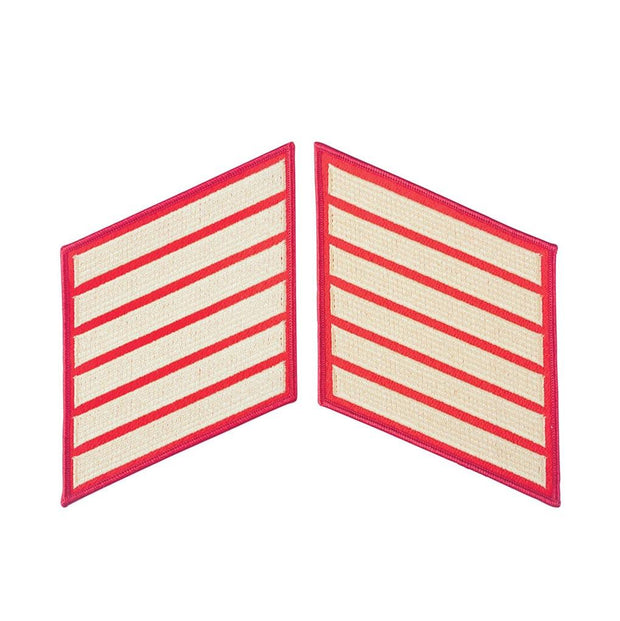 Gold on Red Service Stripes