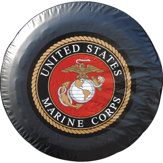 Marine Corps Black Tire Cover