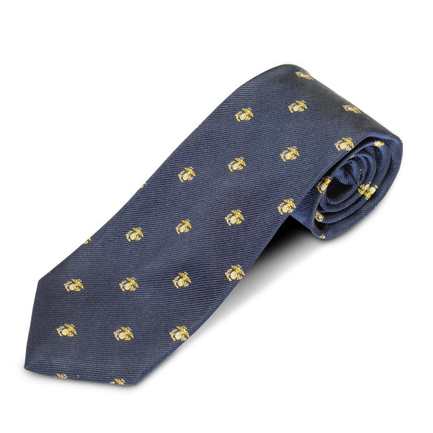Marine Corps Navy Eagle Globe and Anchor Tie