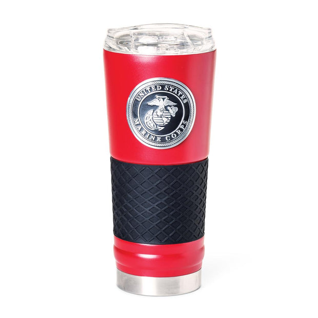 Marine Red With Black Grip Tumbler