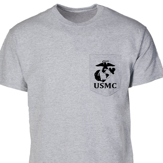 USMC with EGA Pocket T-Shirt