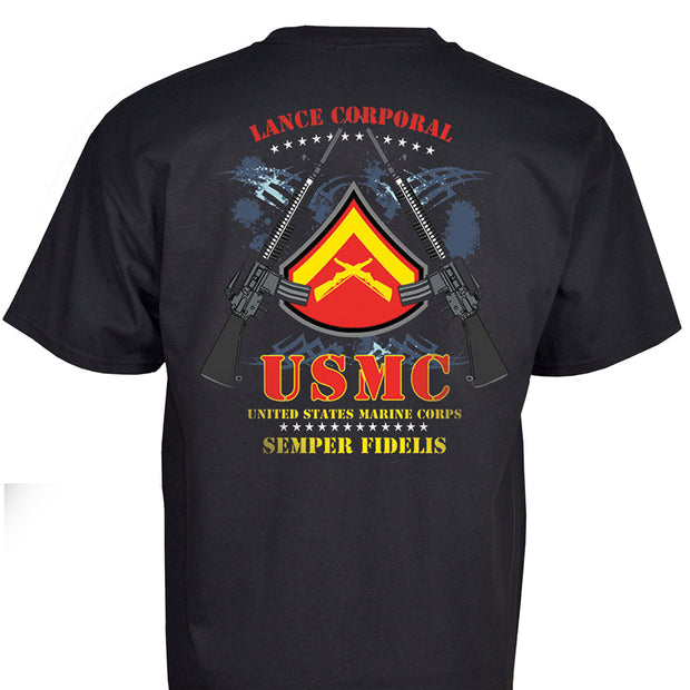 Lance Corporal Rank Black T-Shirt