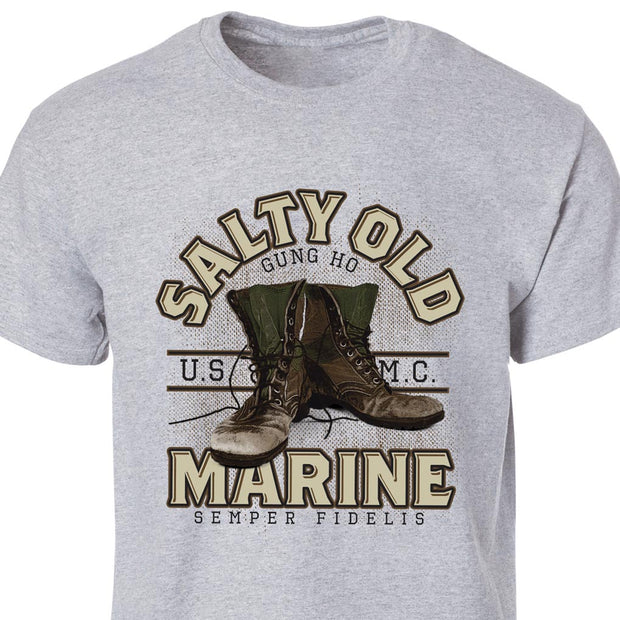 Salty Old Marine Gray T-Shirt