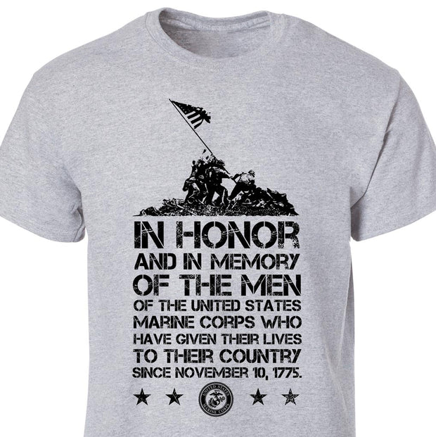 Iwo Jima In Honor Full Front T-Shirt