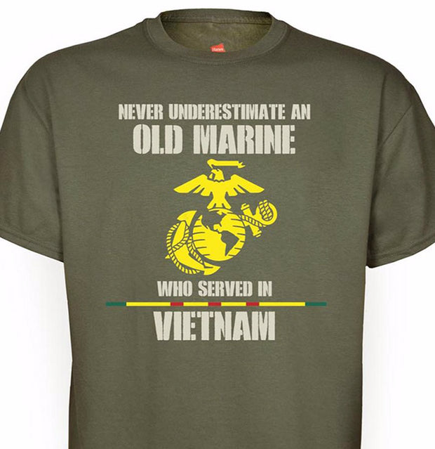 Never Underestimate Veteran T-shirt