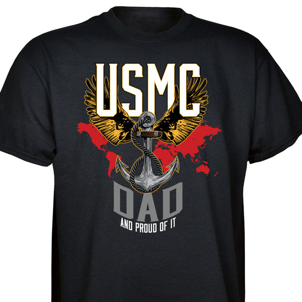"Personalized USMC ""Family"" And Proud Of It T-Shirt"