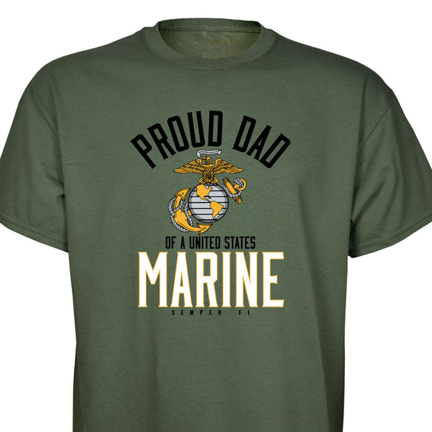 "Personalized Proud ""Family"" Of A United States Marine T-Shirt"