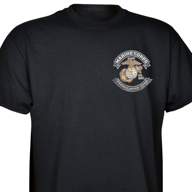 Marine Corps Earned Never Given T-Shirt
