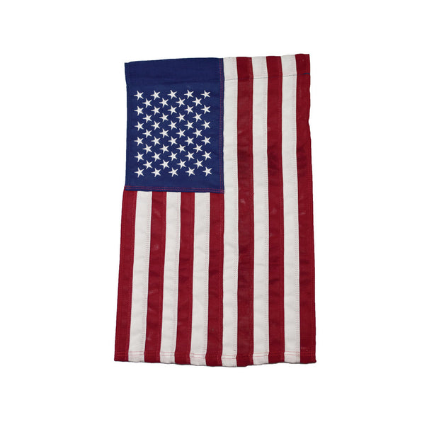 USA Embroidered 18 x 12 Cotton Garden Flag
