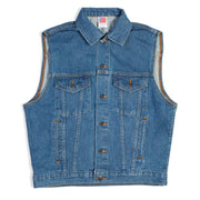 Embossed Denim Vest