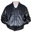 Embossed Black Leather Jacket