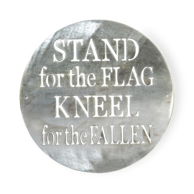 Stand For The Flag Metal Sign