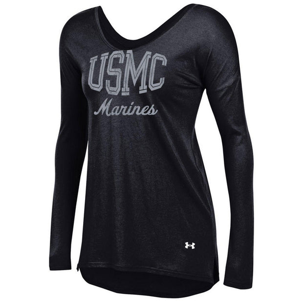 Ladies USMC Under Armour Long Sleeve Shirt