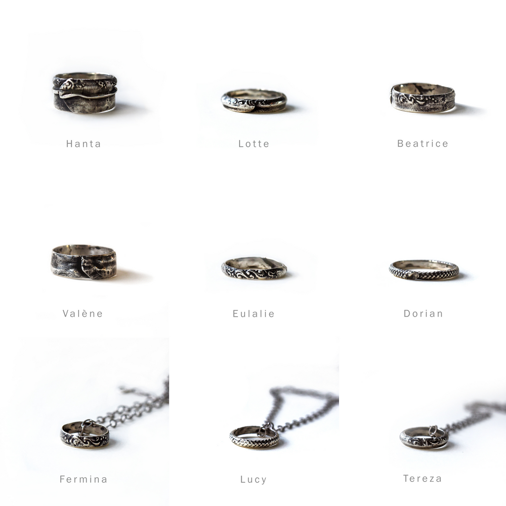Unique Handmade Rings from Minimalist Jewelry Collection by Peg and Awl