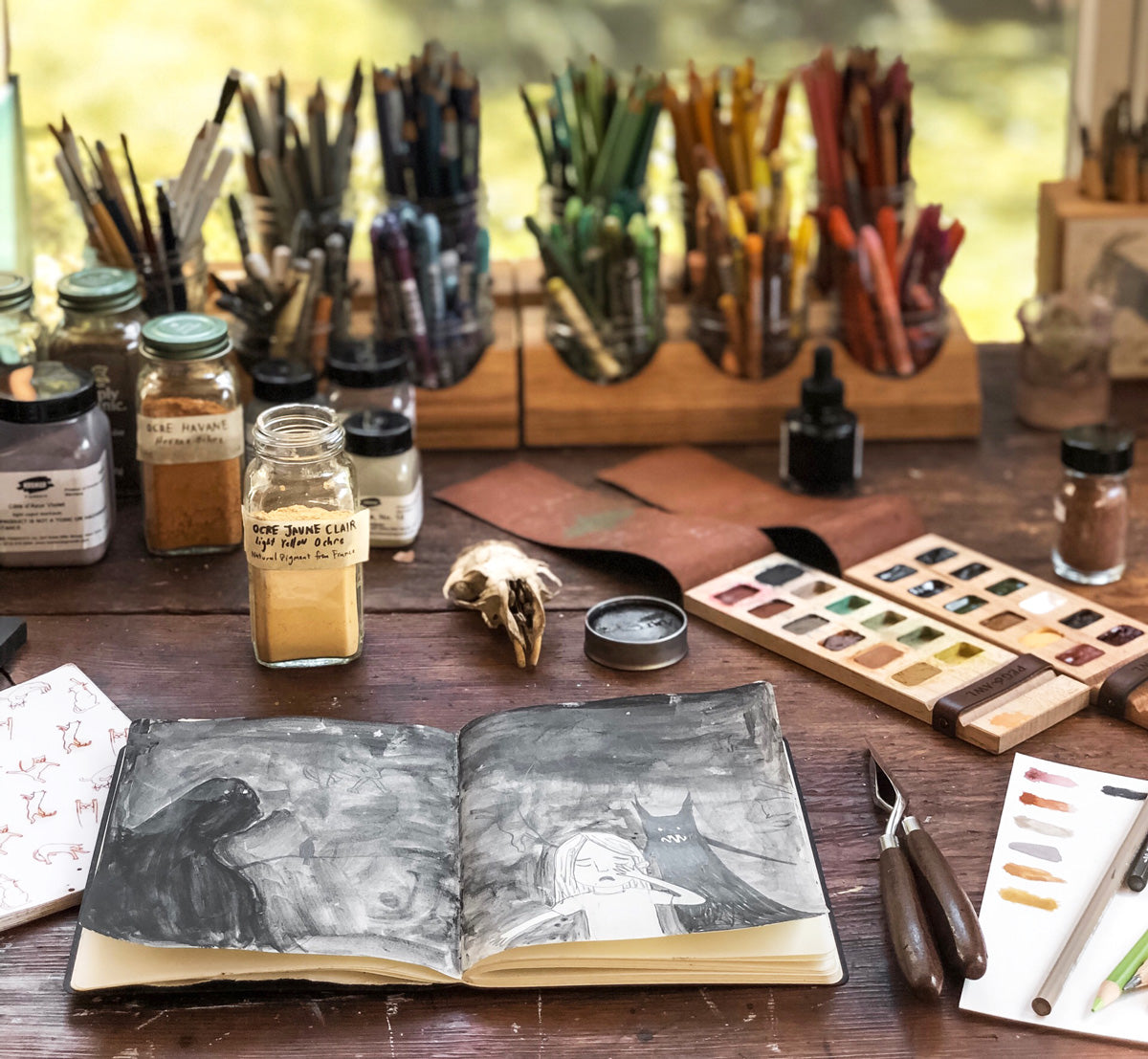 New Iris Painter's Palette and Orra Sketchbook by Peg and Awl