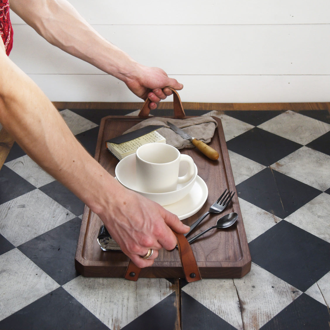 The Watson Serving Tray by Peg and Awl