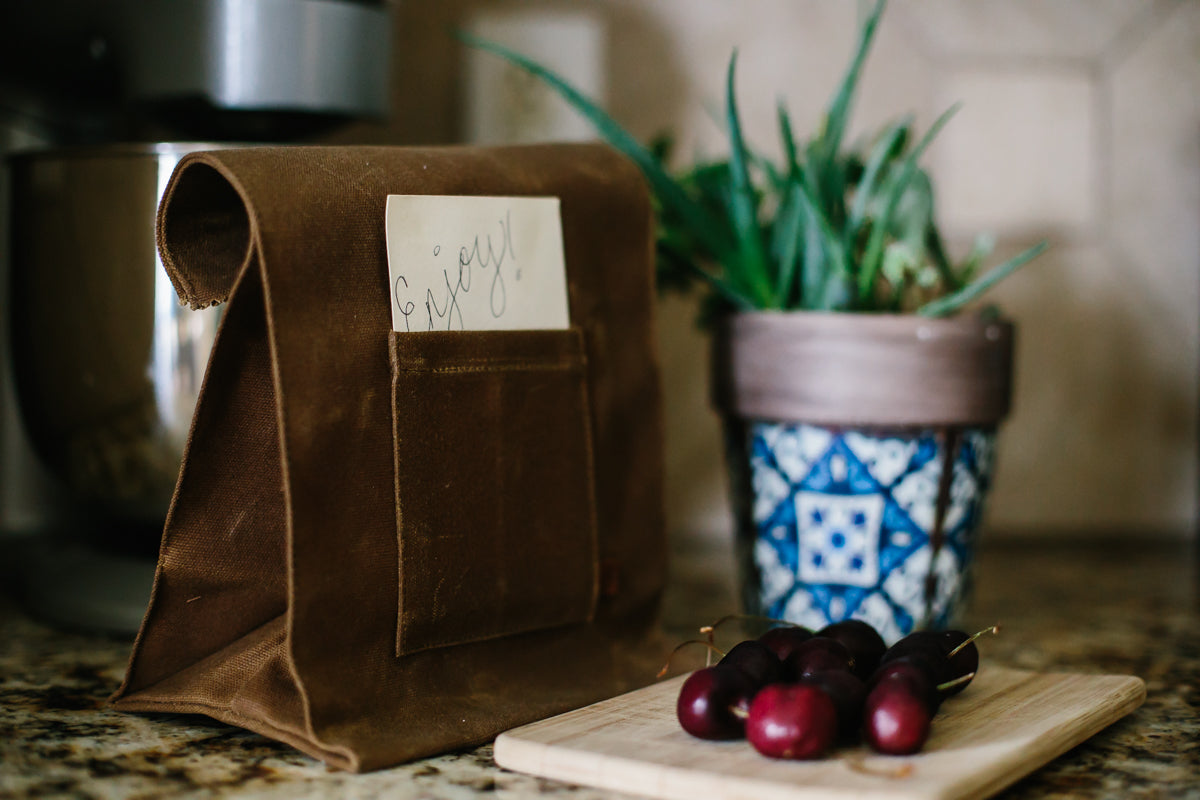 Marlowe Lunch Bag by Peg and Awl | Photograph from Daily Mom