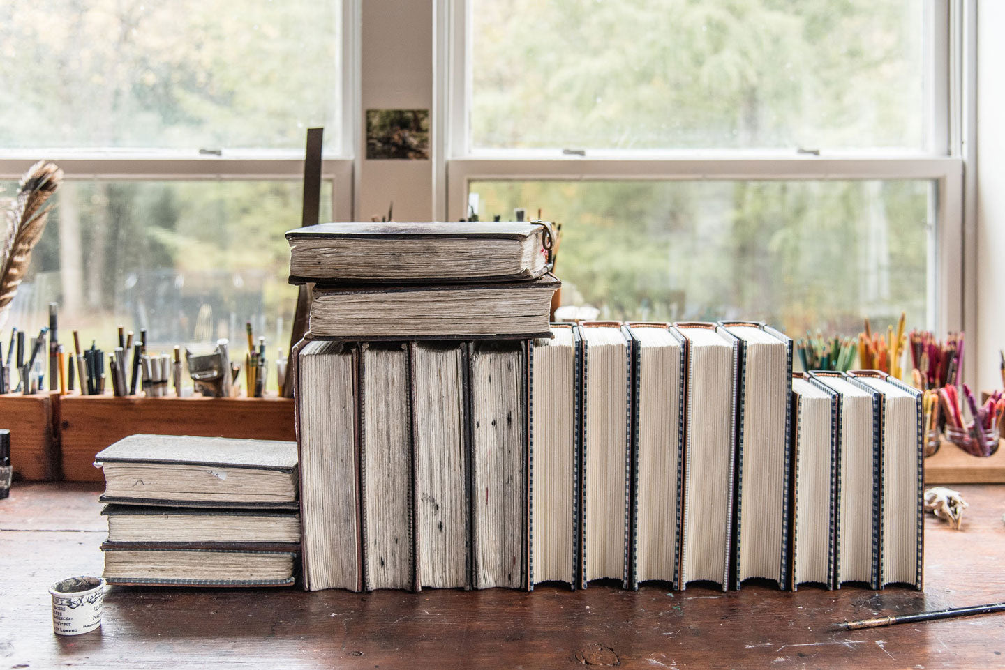 Handbound Leather Journals by Peg and Awl