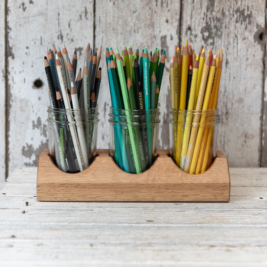 Beatrix Artist Caddy in Oak by Peg and Awl