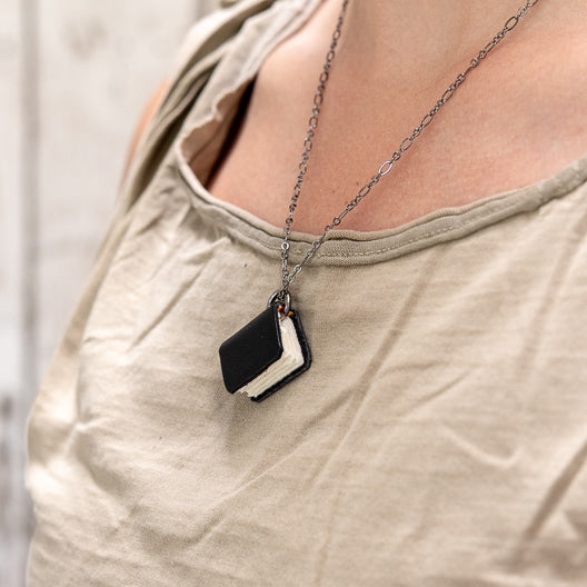 The Jackson Book Necklace by Peg and Awl
