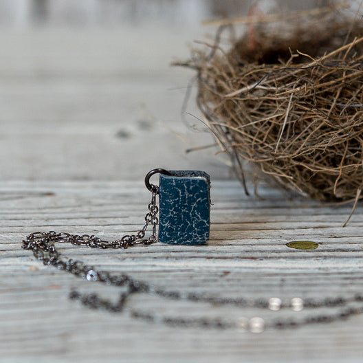 Book Necklace: Squill by Peg and Awl