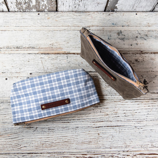 Spring Essentials Pouch: Blue No. 1 by Peg and Awl