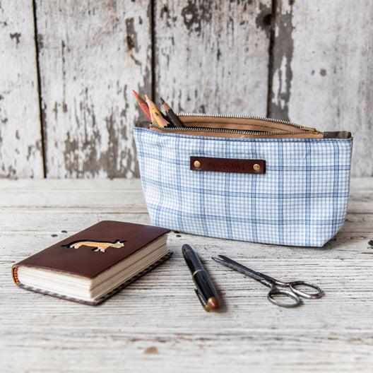 Spring Essentials Pouch: Blue No. 2 by Peg and Awl