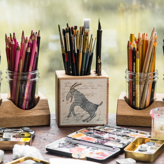 Foundlings Desk Caddy by Peg and Awl