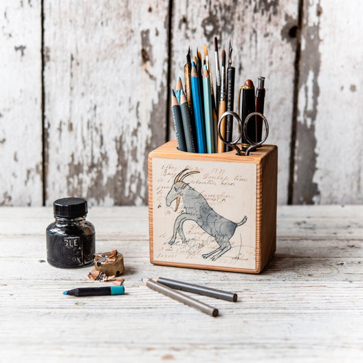 Foundlings Small Desk Caddy: Poppy by Peg and Awl