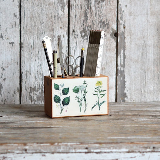 Botanical Desk Caddies by Peg and Awl