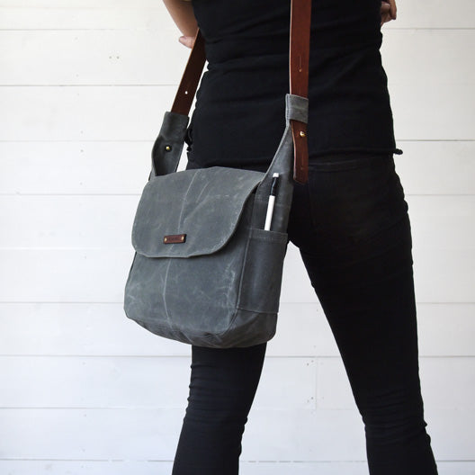 The Finch Satchel in Slate | Peg and Awl