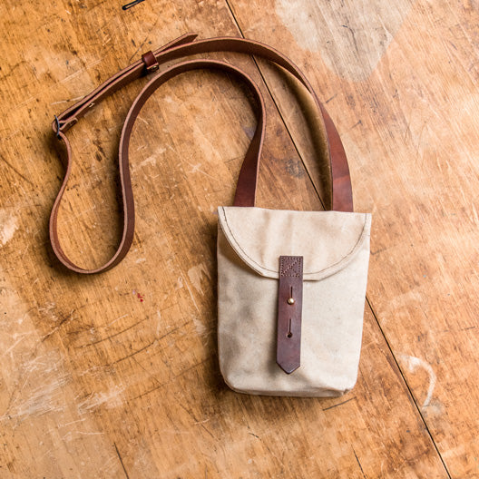 Small Hunter Satchel in Almond by Peg and Awl