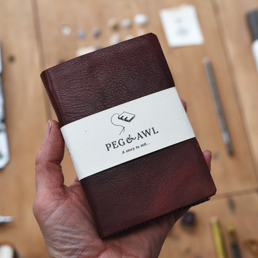 Leather Bordeaux Journal by Peg and Awl