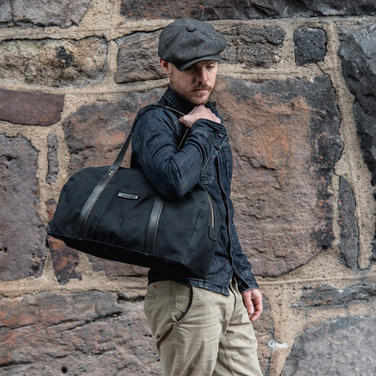 All Black Journey Bag by Peg and Awl