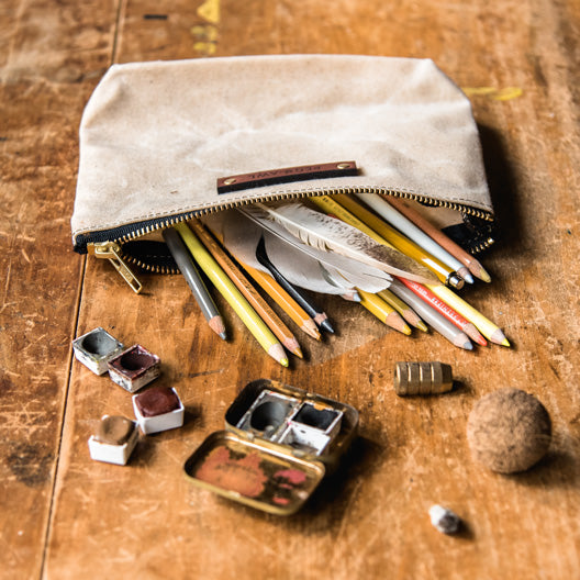 The Keeper Pouch in Almond by Peg and Awl