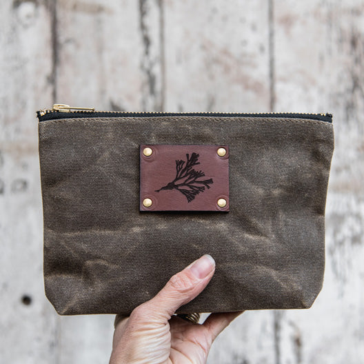 Anna Atkins Keeper Pouch: Fucus vesiculosus by Peg and Awl