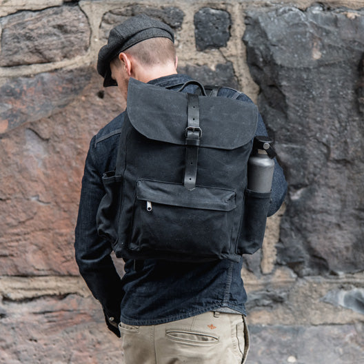 All Black Rogue Backpack by Peg and Awl