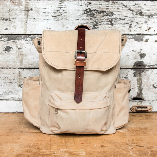 The Rogue Backpack in Almond by Peg and Awl