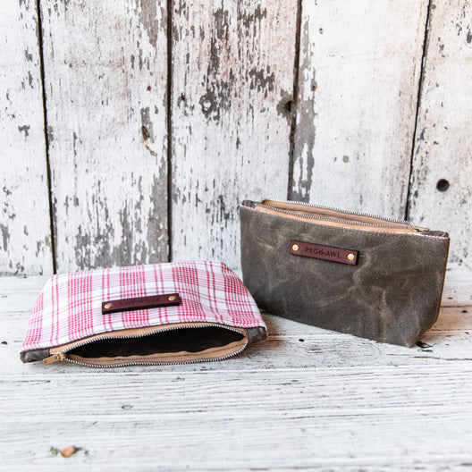 Spring Essentials Pouch: Scarlet No. 2 by Peg and Awl