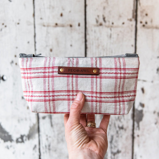 Spring Essentials Pouch: Scarlet No. 3 by Peg and Awl
