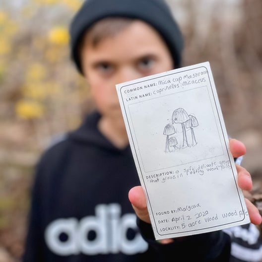 Silas with a Specimen Card | Peg and Awl