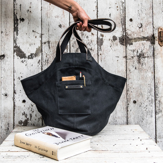 All Black Gatherer Bag by Peg and Awl