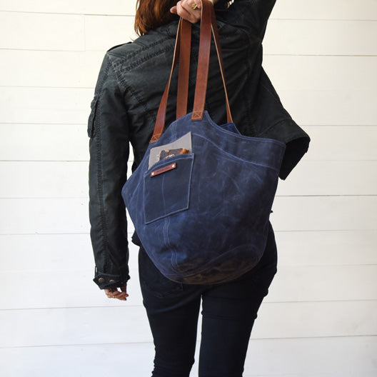 The Gatherer Bag in Rook by Peg and Awl