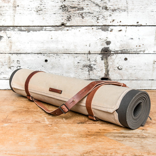 Uma Yoga Mat Carrier in Almond by Peg and Awl