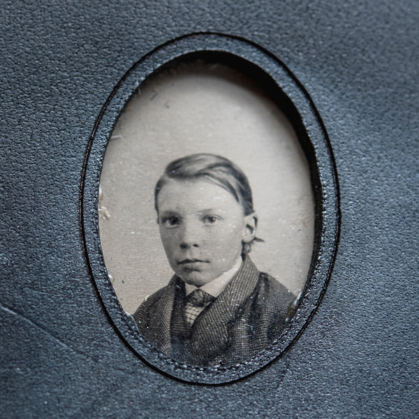 No. 5, Gustavo: Mini Hand-Bound Tin Type Journal (S)