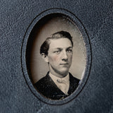 No. 8, Cassius: Mini Hand-Bound Tin Type Journal (S)