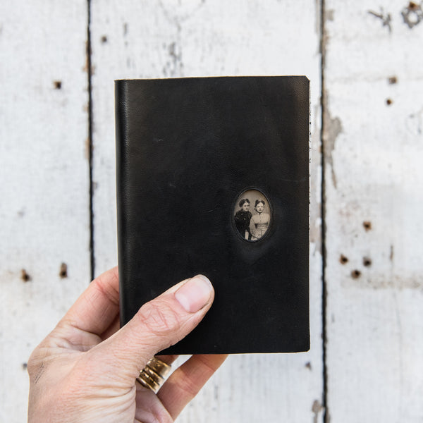 No. 20, Francesca + Olive: Pocket Hand-Bound Tin Type Journal