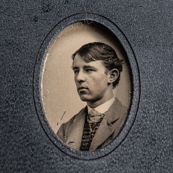 No. 20, James: Pocket Hand-Bound Tin Type Journal (M)