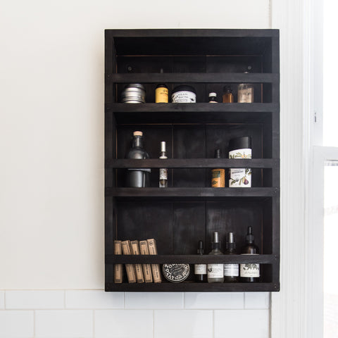 Blackened Apothecary Cabinet