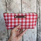 Autumn Pouch in Scarlet